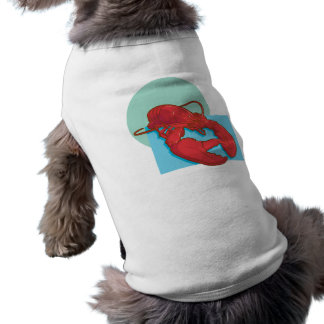 Langosta sabrosa playera sin mangas para perro