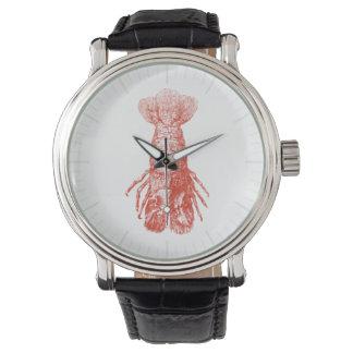 Langosta Scyllarus Arctus del vintage Relojes De Pulsera