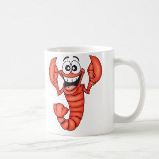 Langosta sonriente divertida taza de café