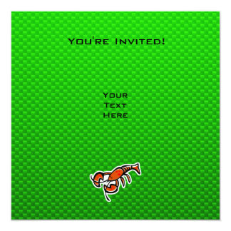 "Langosta verde invitación 5.25"" x 5.25"""