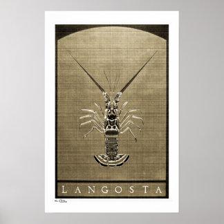 Langosta Vintage B&W Posters, Prints and Frames