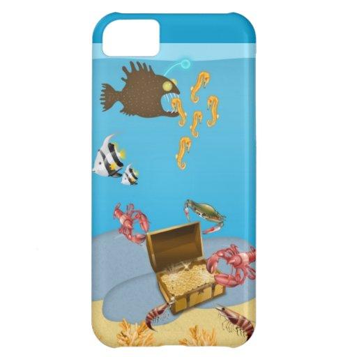 Langostas que abren el caso del iPhone 5 del cofre