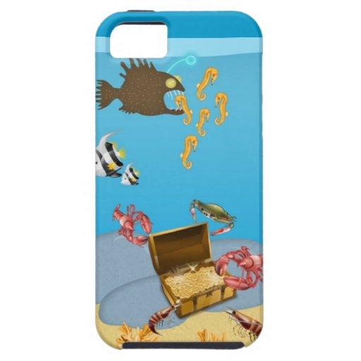 Langostas que abren el caso del iPhone 5 del cofre iPhone 5 Cárcasas