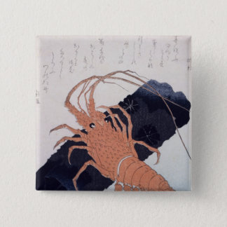 Langoustine with a Block of Charcoal, c.1830 Pinback Button