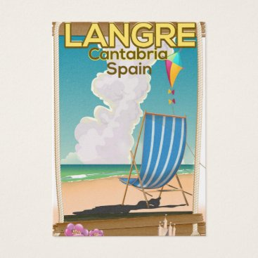 Beach Themed Langre, Cantabria Spain beach poster Business Card