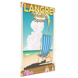 Langre, Cantabria Spain beach poster Canvas Print