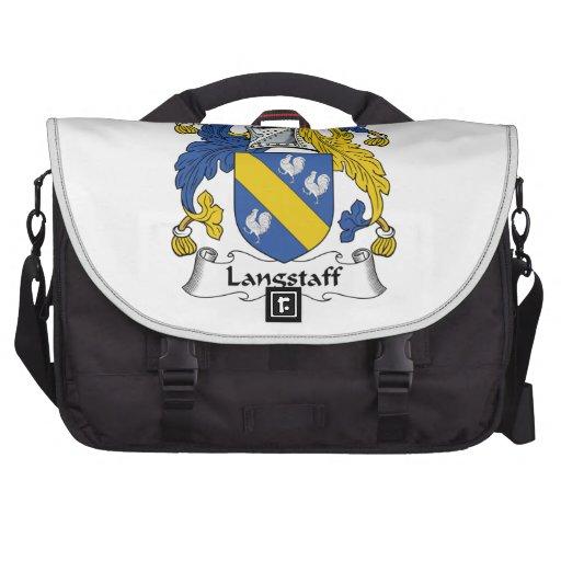 Langstaff Family Crest Laptop Messenger Bag