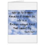 Langston Hughes Dreams Quote Card