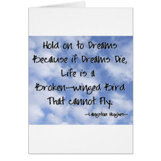 Langston Hughes Dreams Quote Card