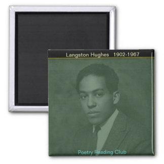Langston Hughes 2 Inch Square Magnet