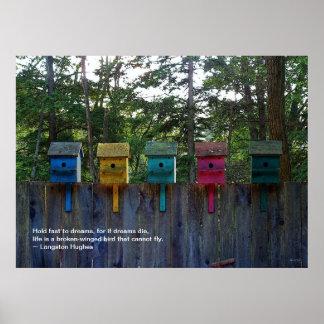 Langston Hughes Quote poster - Birdhouses Five