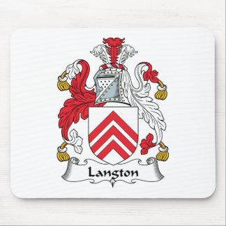 Langton Family Crest Mouse Pad