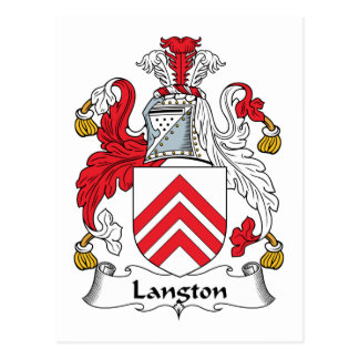 Langton Family Crest Postcard