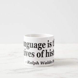 Language archives history Quote Espresso Cup