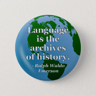 Language archives history Quote. Globe Button