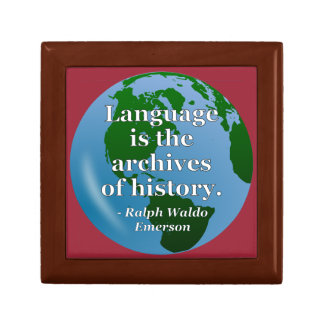 Language archives history Quote. Globe Gift Box
