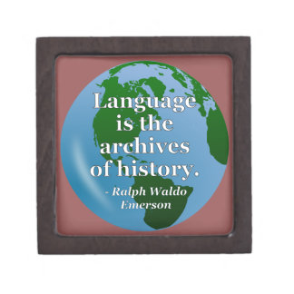 Language archives history Quote. Globe Jewelry Box