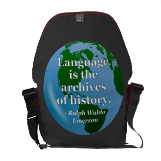 Language archives history Quote. Globe Messenger Bag