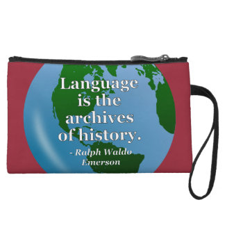 Language archives history Quote. Globe Wristlet Wallet