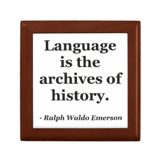Language archives history Quote Keepsake Box