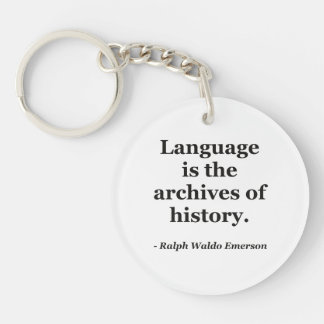 Language archives history Quote Keychain