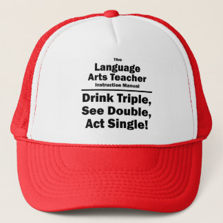 language arts teacher trucker hat
