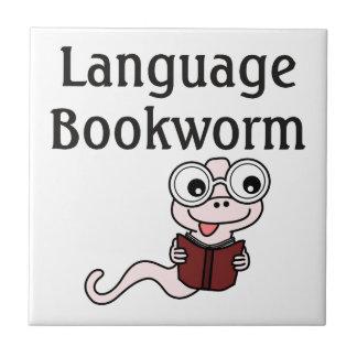 Language Bookworm Ceramic Tile