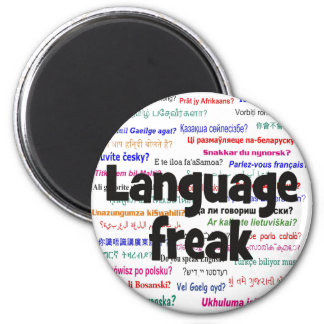 Language freak and background black magnet