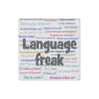 Language freak and background black stone magnet