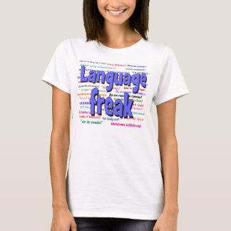 Language freak and background blue T-Shirt