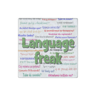 Language freak and background green stone magnet