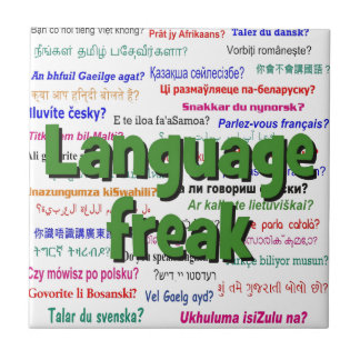 Language freak and background green tile