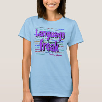 Language freak and background purple T-Shirt