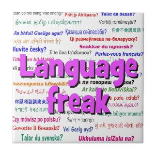Language freak and background purple tile
