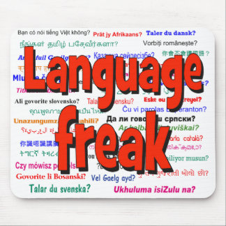Language freak and background red mouse pad