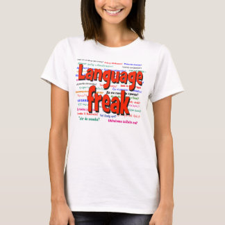 Language freak and background red T-Shirt
