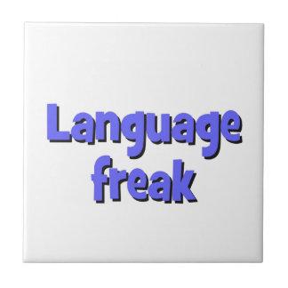 Language freak Basic blue Ceramic Tile