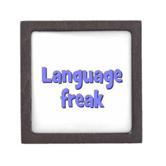 Language freak Basic blue Jewelry Box