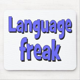 Language freak Basic blue Mouse Pad