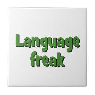 Language freak Basic green Ceramic Tile