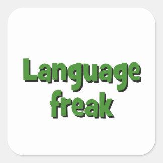Language freak Basic green Square Sticker