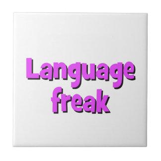 Language freak Basic purple Tile