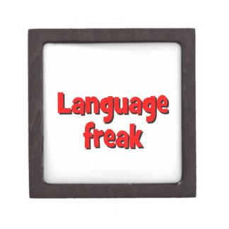 Language freak Basic red Gift Box