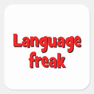 Language freak Basic red Square Sticker