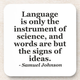 Language instrument science Quote Beverage Coaster