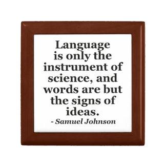 Language instrument science Quote Jewelry Box