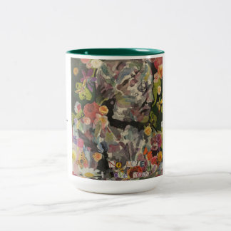 language is leaving me limited edition cup Two-Tone coffee mug