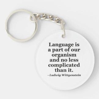Language is part Quote Keychain