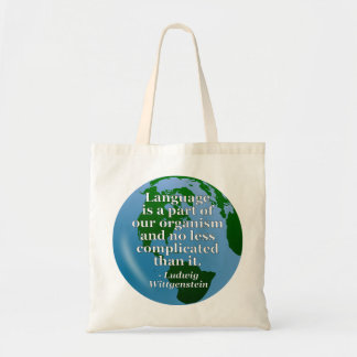 Language is part Quote Tote Bag