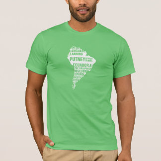 Language Learning Ecuador in Multiple Colors T-Shirt